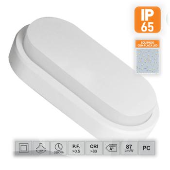 Aplique de Parede LED Saliente Oval 15W