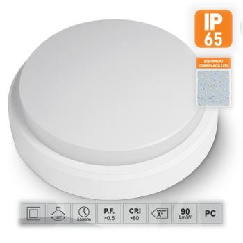 Aplique de Parede LED Saliente Redondo 15W