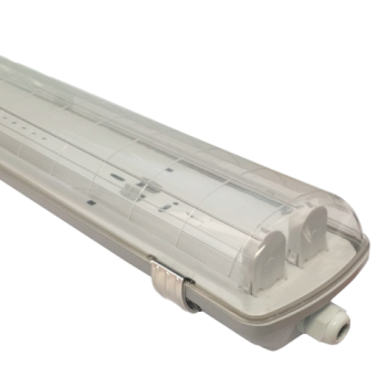 Armadura estanque para lampada LED 2x120cm Policarbonato