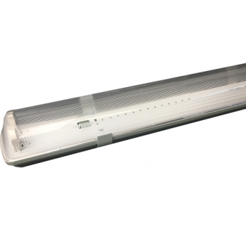 Armadura estanque lampadas LED 2x60cm Policarbonato