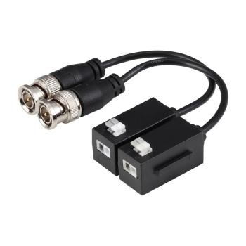 2 transceptores de vídeo HDCVI / HDTVI / AHD / CVBS passivos Dahua com 1 canal de transmissão em tempo real até 4K (CVI) PFM800-4K