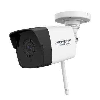 Câmera IP bullet WiFi da série HIKVISION® 2MP HiWatch ™ com iluminação infravermelha de 30m, adequada para ambientes externos HWI-B120-D/W