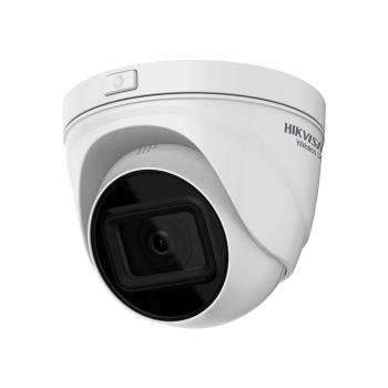 Domo fixo IP da série HIKVISION® 2MP HiWatch ™ com iluminação infravermelha de 30m, adequado para ambientes externos HWI-T621H-Z