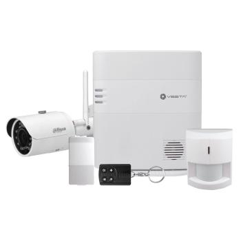 Kit de Alarme VESTA-056 2G com Câmera bullet IP da série PRO com WIFI e iluminação infravermelha