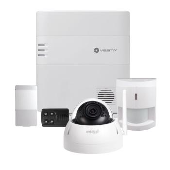 Kit de Alarme VESTA-057 2G com câmera dome fixa IP da série PRO com WIFI e iluminação infravermelha