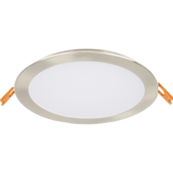 Downlight LED redondo aço escovado ø17,5cm 24W 3000K PLACA LED