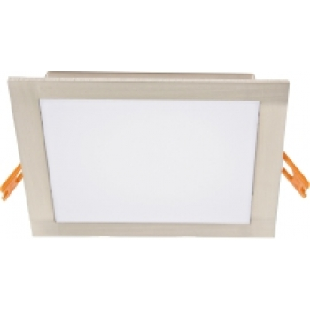 Downlight LED quadrado aço escovado 22,5x22,5cm 24W 4000K PLACA LED