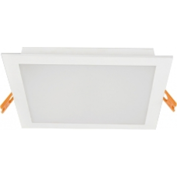 Downlight LED quadrado branco 11x11cm 6W 4000K PLACA LED