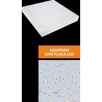 Painel LED quadrado saliente 40W 4000K 400X400mm