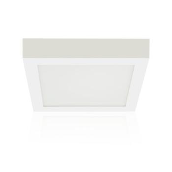 Downlight LED quadrado saliente 23x23cm 30W 3000K PLACA LED