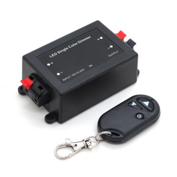 Controlador radio frequência para fita LED 12-24Vdc cor simples