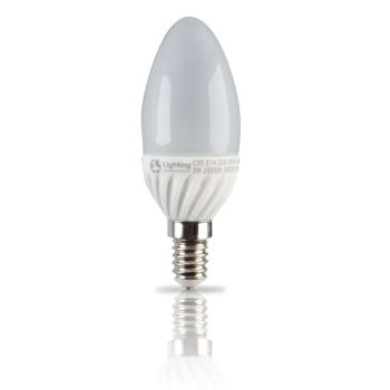 Lampada LED C35 E14 5W 3000K Cerâmica