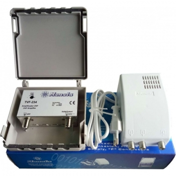Kit amplificador TVF234 + alimentador AF-24V MANATA