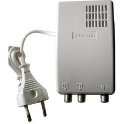 Amplificador de interior 1 entrada e 2 saídas c/via de retorno MANATA