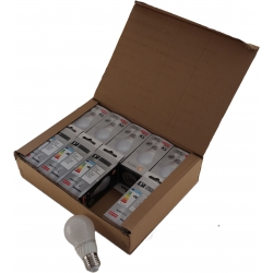 Pack 10 Unidades Lâmpada LED A55 E27 5W 3000K Cerâmica