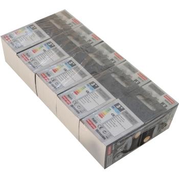 Pack 10 unidades Lâmpada LED GU10 3W 3000K