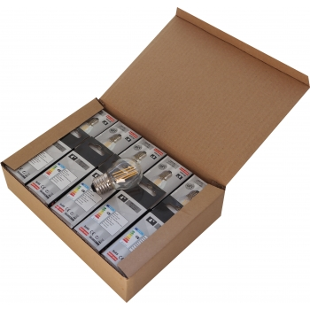 Pack 10 unidades Lâmpada filamento LED 4W E27 3000K Vintage