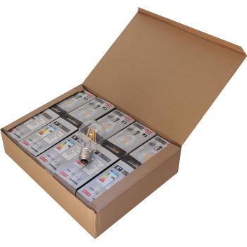 Pack 10 unidades Lâmpada filamento LED 6W E27 3000K Vintage