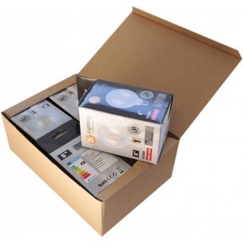 Pack 4 unidades Lâmpada filamento LED 6W E27 3000K Vintage G95