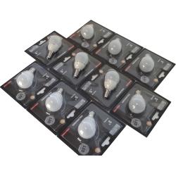 Pack 10 unidades Lâmpada LED P45 E14 5W 4000K Cerâmica