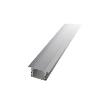 Perfil de alumínio de encastrar c/difusor