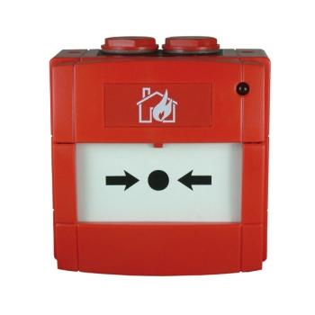 Botão de alarme endereçável 01 a 159 com LED e isolador de curto-circuito integrado para sistemas analógicos NOTIFIER