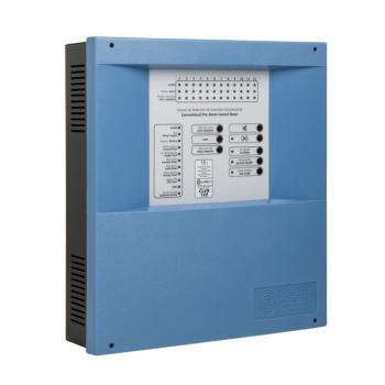 Painel de controle automático convencional com 4 zonas de detecção e alarme de incêndio