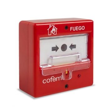 Botão de alarme de incêndio redefinível para sistema de detecção de incêndio convencional
