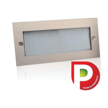 Aplique de muro LED 8W 4200K INOX
