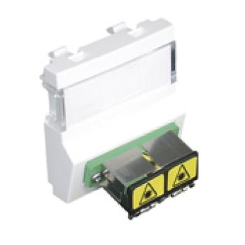 Módulo C/acoplador de fibra ótica SC APC Duplex 45448SBR EFAPEL
