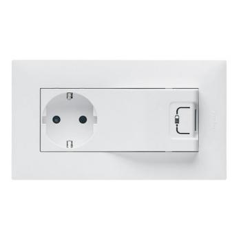 Legrand Niloé Step Tomada Mista 2P+T/USB Branco - 864123