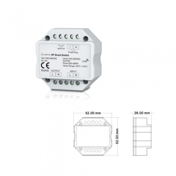 Controlador ON/OFF RF ESL6911