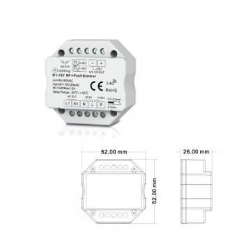 Conversor DIMMER 0/1-10V PUSH RF ESL6912