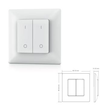 Botão de 2 Zonas DIMMER ON/OFF p/controladores SLighting