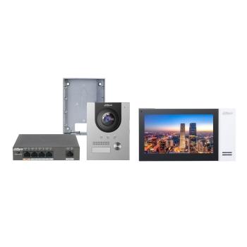 Kit video porteiro IP Dahua DHI-KTP01(S) Instalação Saliente