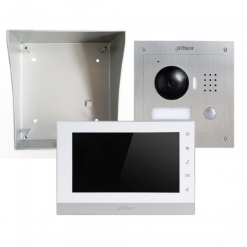 Kit video porteiro IP Dahua VTK-F2000-IP Instalação saliente