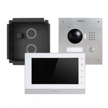 Kit video porteiro IP Dahua VTK-F2000-IP Instalação de embutir